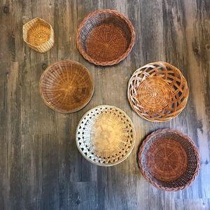 6 Wall Baskets